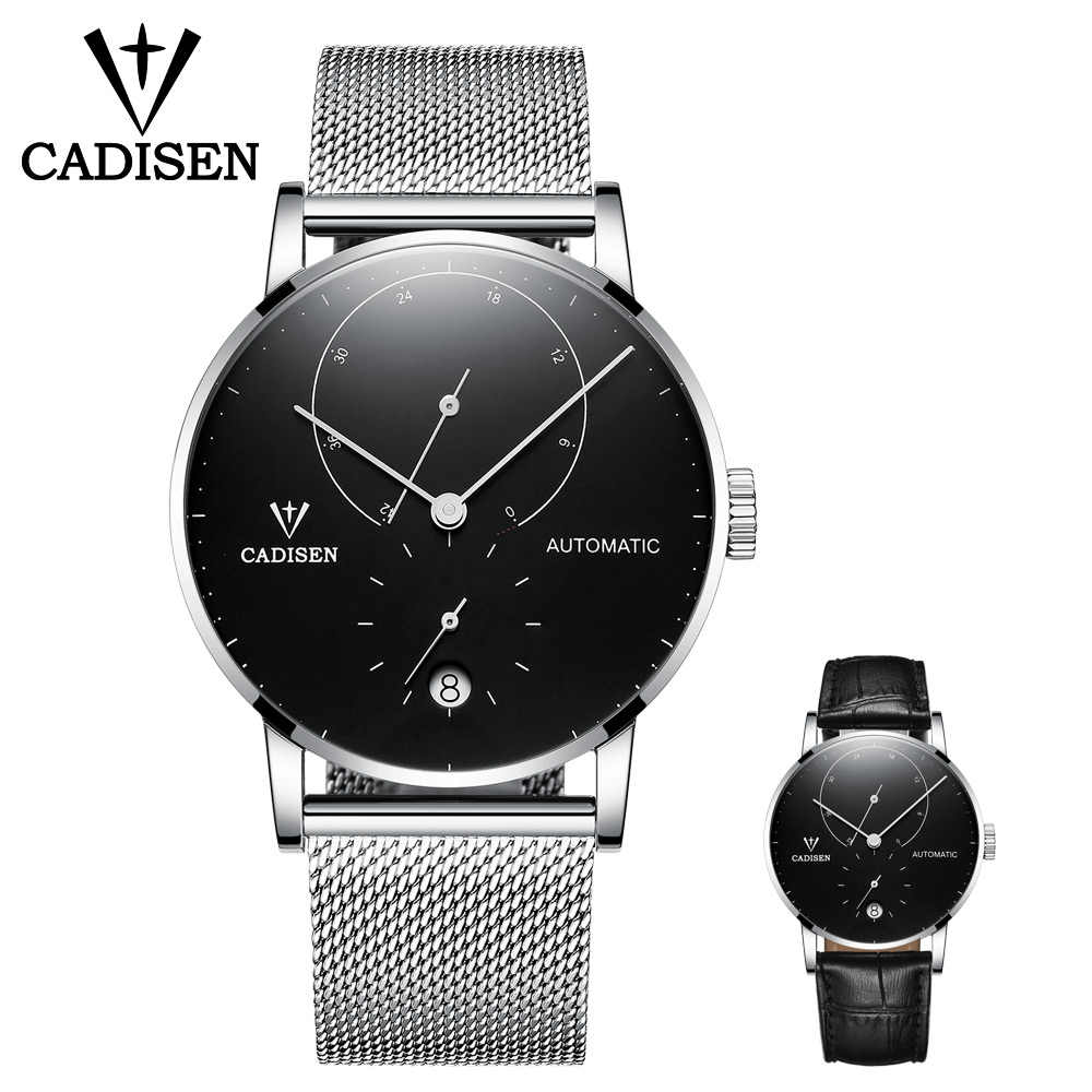 CADISEN الرجال الساعات مجموعة التلقائي ساعة ميكانيكية ساعة الموضة الذكور الفولاذ المقاوم للصدأ مقاوم للماء ساعة الرجال Relogio Masculino