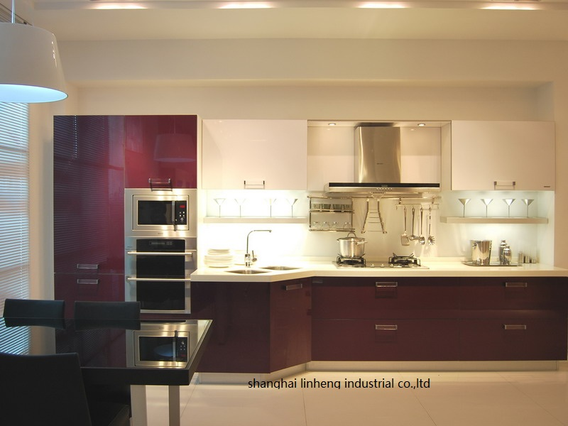 High gloss/lacquer kitchen cabinet mordern(LH-LA039)