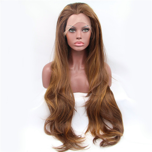Natural Look Extra Long Loose Wave Hair Natural Brown Synthetic Hair