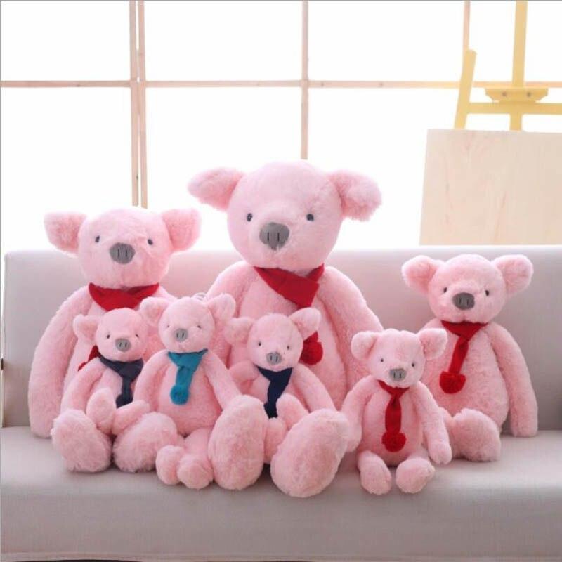 Lindo Cachecol Curta Porco Porco Cor de Rosa de Brinquedo de Pelúcia Bicho de pelúcia Brinquedos de Pelúcia Crianças Boneca de Pelúcia de Aniversário & Presente de Natal