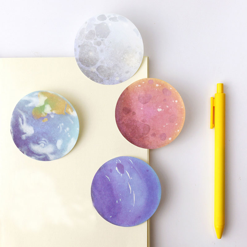 1 pcs beautiful planet memo pad paper post note sticky notepad stationery papeleria office school supplies kids gift