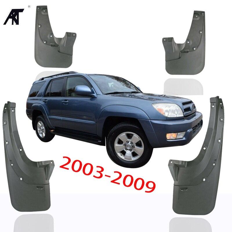4 sztuk Splash Guards błotniki dla Toyota 4 Runner 2003-2009 SUV błotniki pełny zestaw błotniki