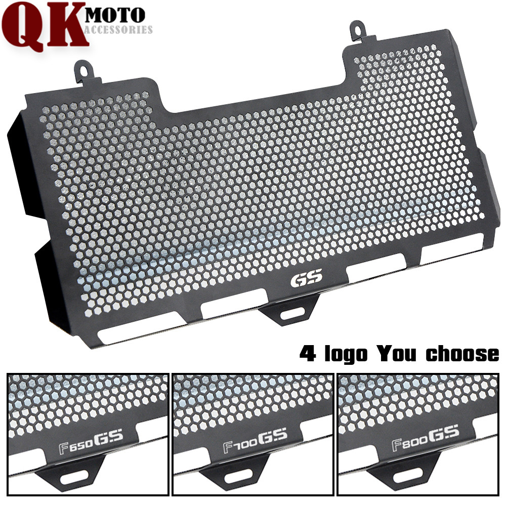 F650GS F700GS BLACK Stainless Steel Radiator Grille Guard Cover for BMW  F800GS 2008 2009 2010 2011 2012-2016