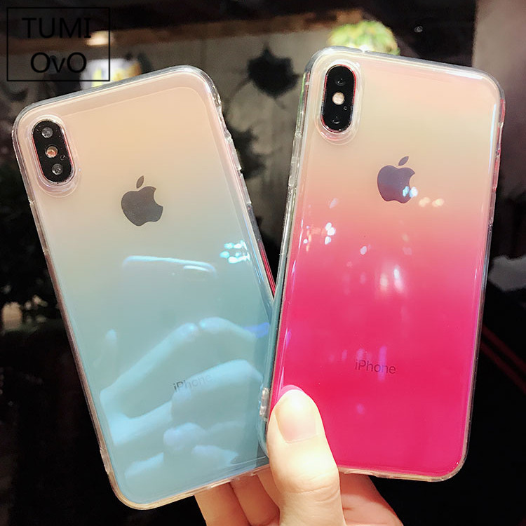 Mirror Blue Light Case For Iphone 6 6s Plus 7 8 Plus X 10