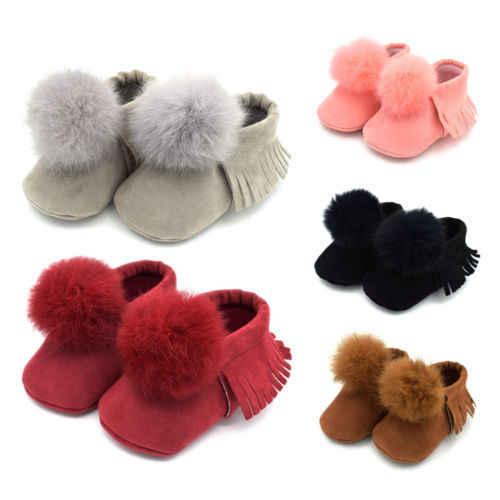 حذاء شتوي للأطفال الصغار غير رسمي على الموضة ، أحذية شتوية للأطفال ، أحذية قطنية دافئة 0-18 م ، وردي ، رمادي ، أحمر