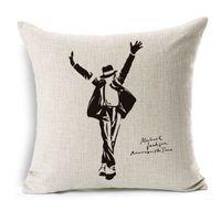 Dancing King MICHAEL JACKSON Sofa Cushion Case Cotton Linen Square Pillow 42x42cm Zipper Pillow Cover Home