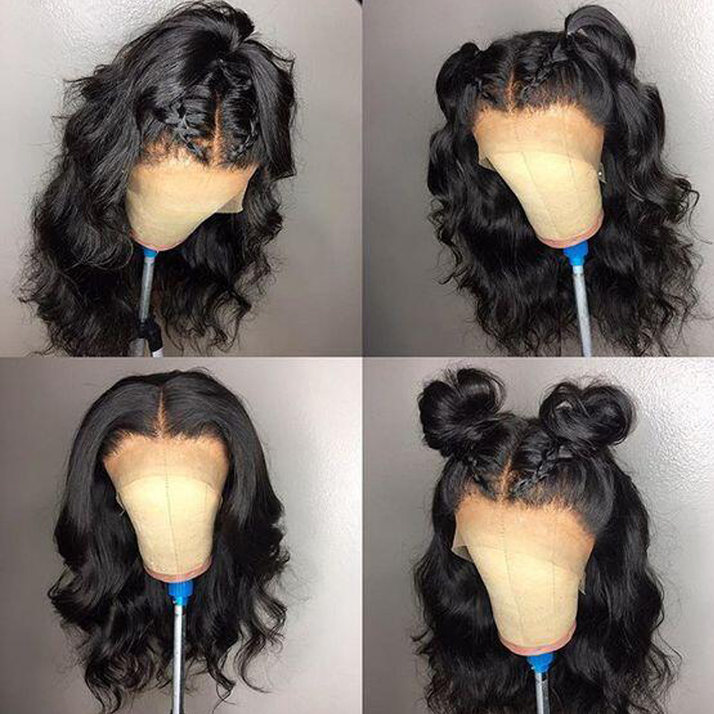 Sapphire 360 Lace Front Human Hair Wigs Pre Plucked 130 Density Brazilian Body Wave Lace Front