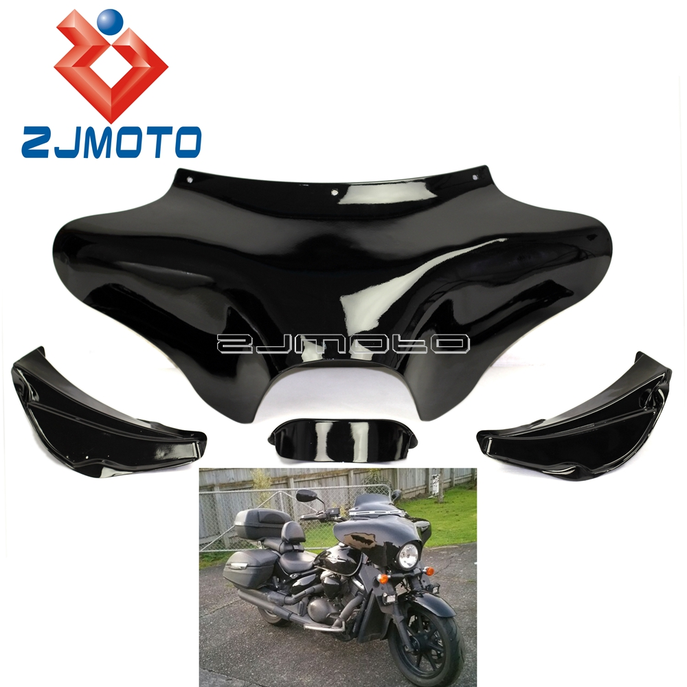 Black Motorcycle Front Outer Batwing Upper Fairing For Harley Road King Electra Glide Dyna Wide Glide