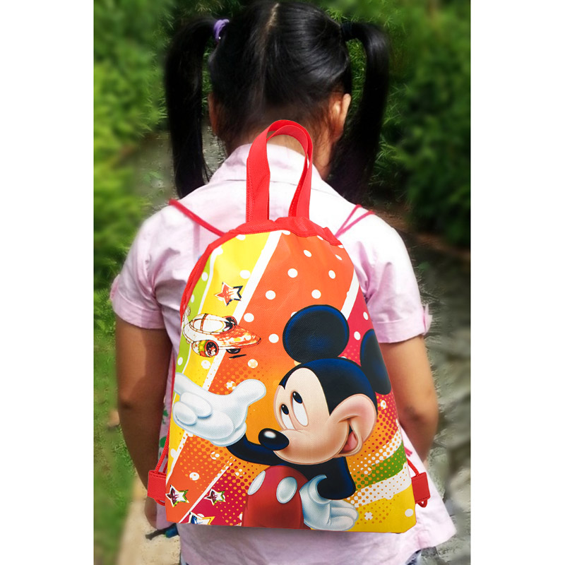 1pcs Drawstring Backpacks Bags 34 27CM Cartoon Children Non Woven Fabrics Home Storage School Shopping Party Gift Bags for Kids in Storage Bags from Home Garden