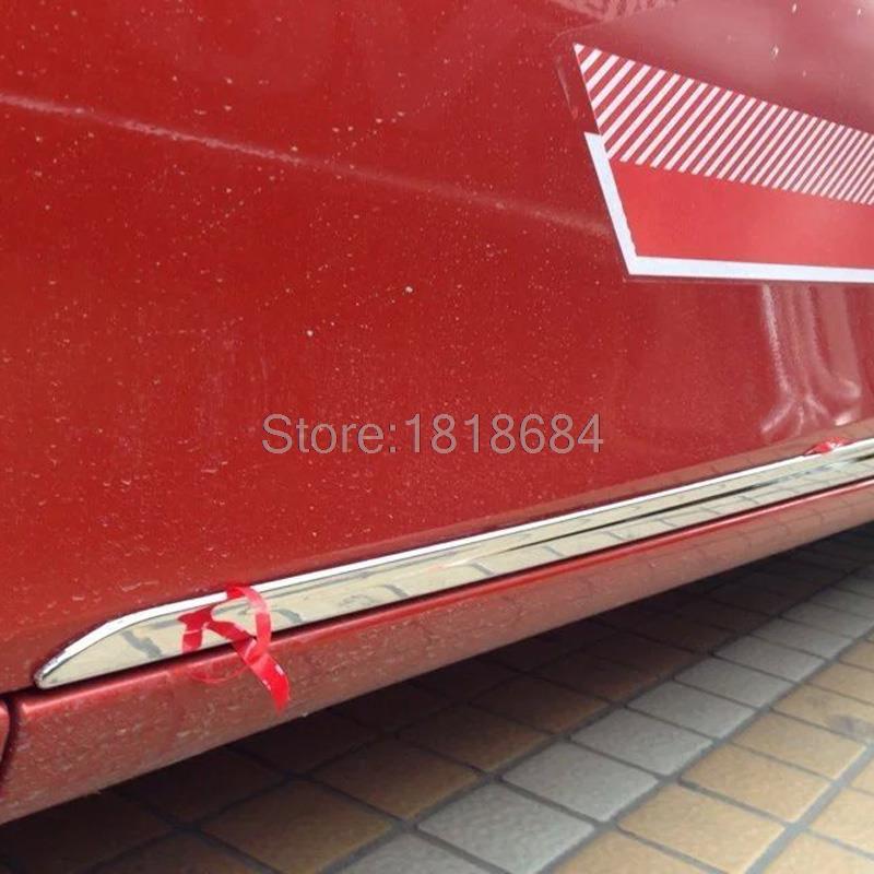 Pour Toyota Vios Yaris berline 2014 2015 haute qualité ABS Chrome corps de porte latérale moulures ligne couverture garniture Auto accessoires 4 pièces/ensemble