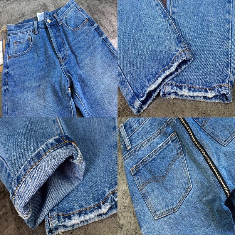 Levé Retour Ultérieure Hanche Maigre Fausses Élastique Longueur Taille Chaude Vente Date Haute À Fermetures Crayon Pleine Bleu Jeans Xk052 Glissière Femelle 5ZSxqwdC
