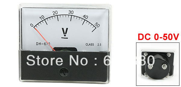 5 Volt Analog Meter : Dh class accuracy dc v dial analog panel