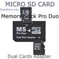 Оптовая 2 Двойной Слот Для Micro SD SDHC TF для Memory Stick MS Карты Pro Duo Reader для sony камера PSP Адаптер Бесплатно доставка