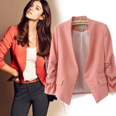Neue 2019 Frühling Frauen Kleidung Jacke Kleine Anzüge Mode Lässig Plissierten Ärmeln Arbeit Büro Jacke Große Größe Blazer Weibliche Blazer