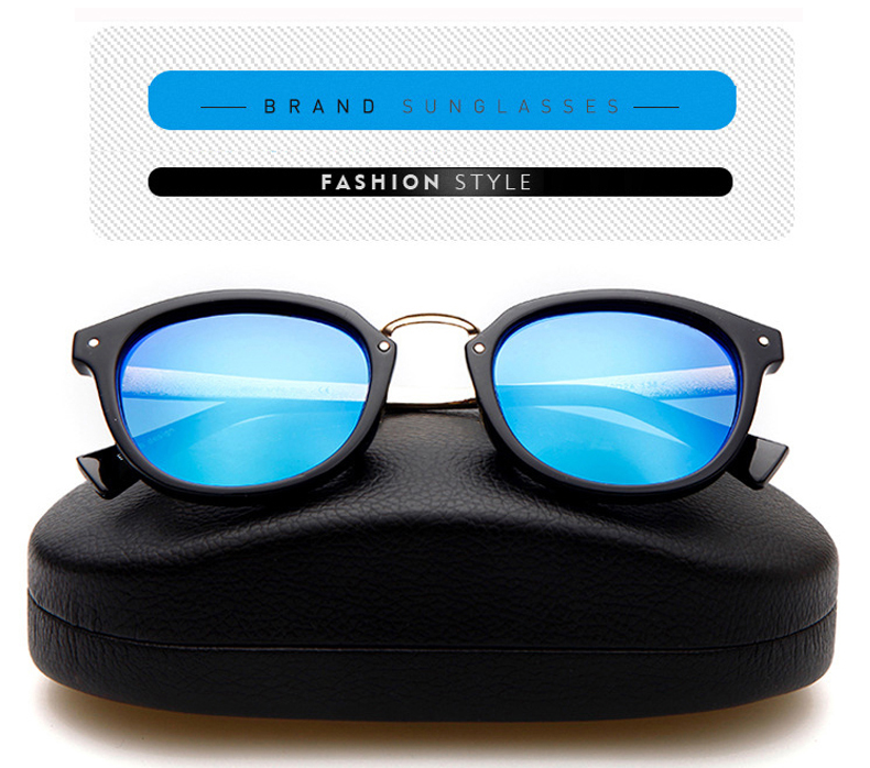 2019 blue Klassische Marke Black Designer Lens Sonnenbrille Oculos Polarisierte Lens Vintage Original Frauen Mode Uv400 Paket Luxus rrxqZwAg