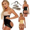 Hot high waist butt shaper women knickers butt lifter waist tummy control booty enhancer steel support sexy lace push up panties