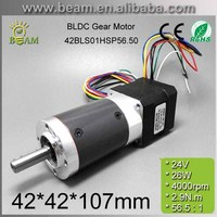 free shipping High Quality 0.3A 24V 2.9N.m 70rpm 42*42*106.9mm Brushless dc motor with planetary gearbox / Reduction Ratio 56.5