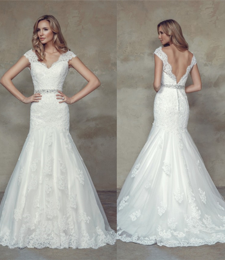 Online Buy Wholesale vintage lace wedding dress low back from ...
