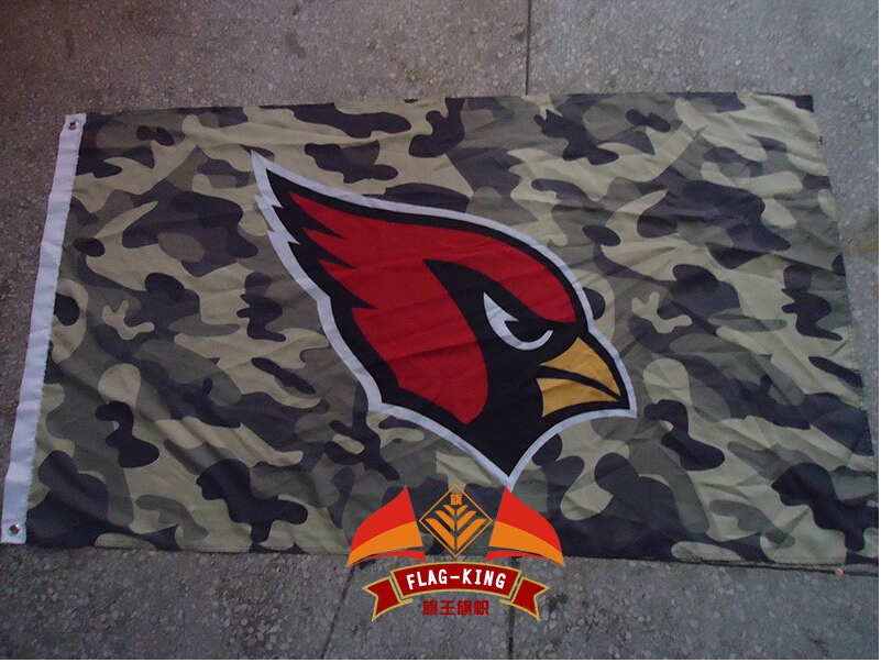 Arizona Cardinals with red background flag, football soccer club banner,90*150 CM polyst ...