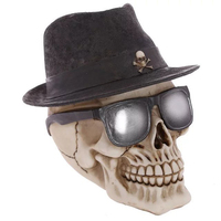 Christmas Ornament 2017 Skull Statue Figurine Human Shaped Skeleton Head Demon Halloween Festival Gift Figurines Home