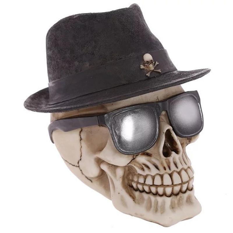Ornement de noël 2017 Statue de crâne Figurine en forme de squelette humain tête de démon Halloween Festival cadeau Figurines décor à la maison