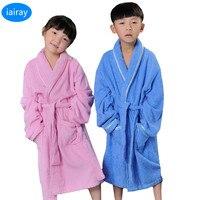 子供浴衣ロングタオルでバスローブパジャマ女の子ピンクローブブルー roupao 男の子ローブパジャマ子供服ドレッシングガウン