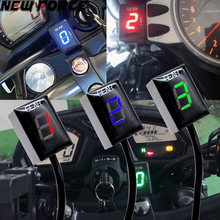 Motorcycle LCD Electronics 6 Speed 1-6 Level Gear Indicator Digital Gear Meter For Harley DAVIDSON 883 Iron 2009-2015 цена 2017