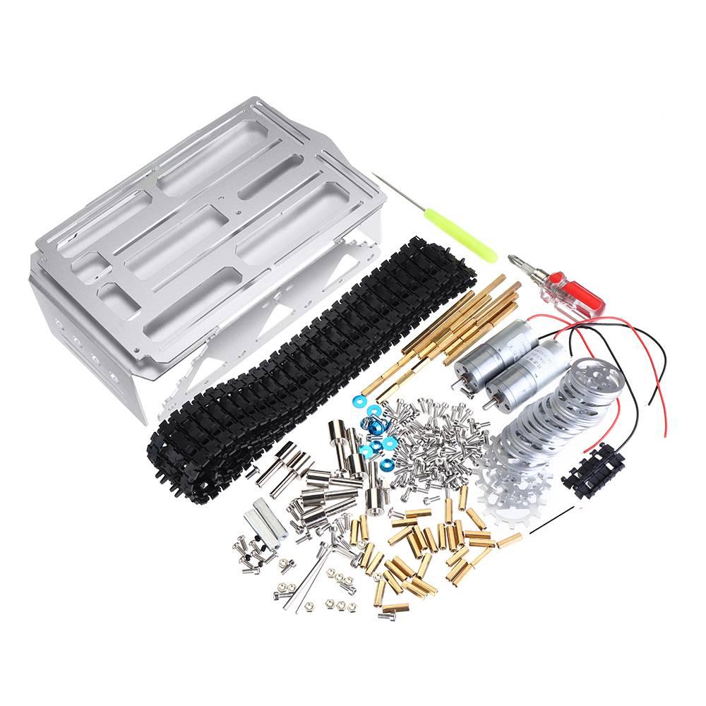 Bricolage A-19 alumineux RC Robot voiture intelligente chenillé Kits de châssis de réservoir