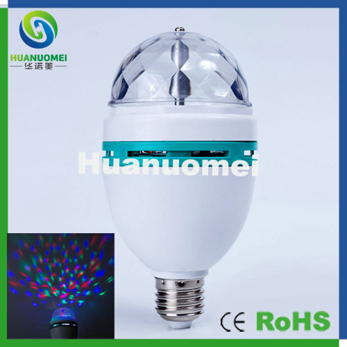 New ! 3w led stage lighting effect E27 RGB led bulb light Party,DJ,Disco,Nightclub lamp