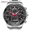 LONGBO Brand Men watch fashion stainless steel quartz wristwatches Military waterproof sports watch relogio masculino male clock