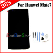 For Huawei Ascend Mate 7 MT7 LCD Display + touch screen with digitizer Assembly + Tools , Black Free shipping !!! for huawei ascend g6 3g version lcd display with touch glass digitizer assembly black white color