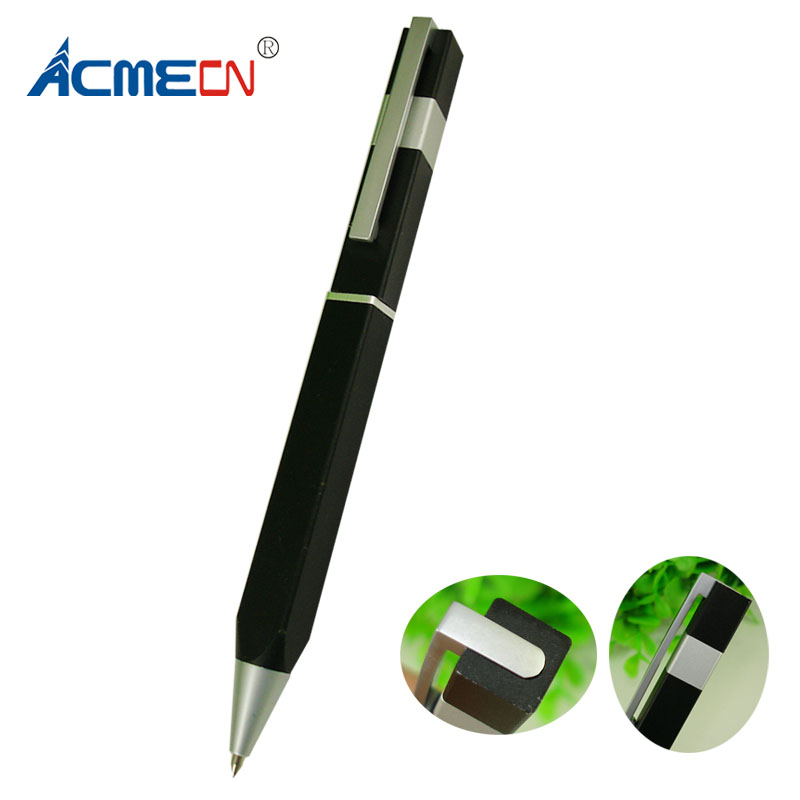 ACMECN Original Design Square Ball Pen 38g Aluminium Metal Heavy Pen Writing points 1.0mm Black Ball Point Pen for Father's Gift elsker 38g