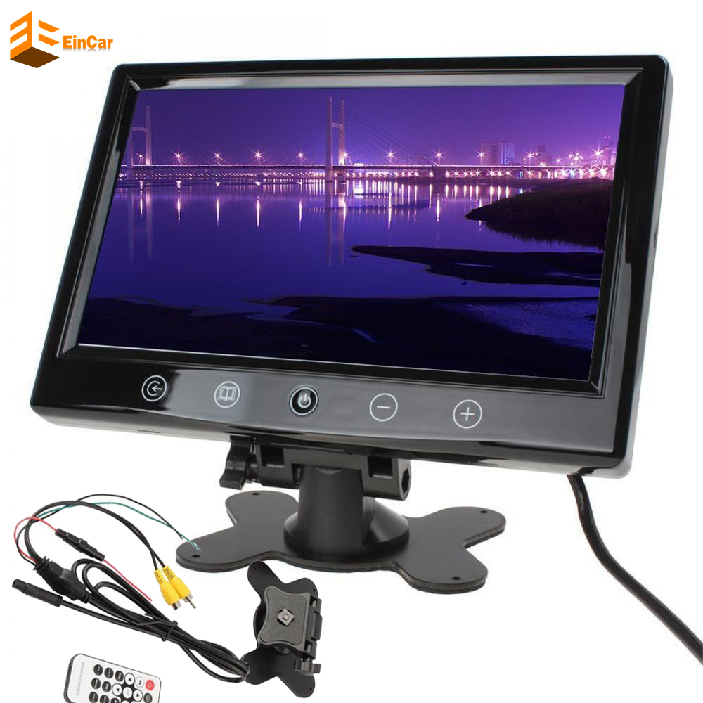 Car Unit Monitor 9 Inch TFT LCD car styling for parking Reversing Camera car monitor for Parking Monitor DVD VCR Headrest HD 9 inch car headrest dvd player pillow universal digital screen zipper car monitor usb fm tv game ir remote free two headphones