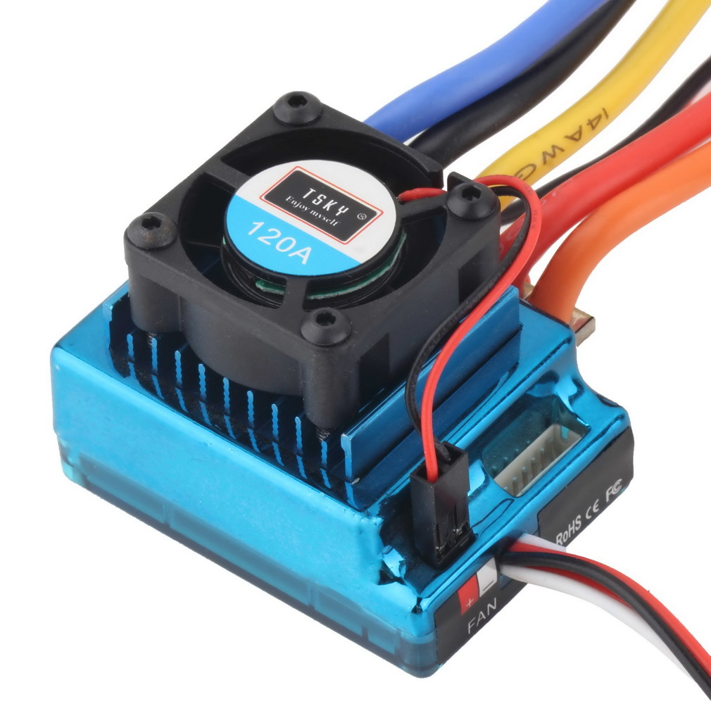 120A Brushless ESC Speed Contorller for RC Car accessories Bigfoot truck Spare Parts 30a esc welding plug brushless electric speed control 4v 16v voltage