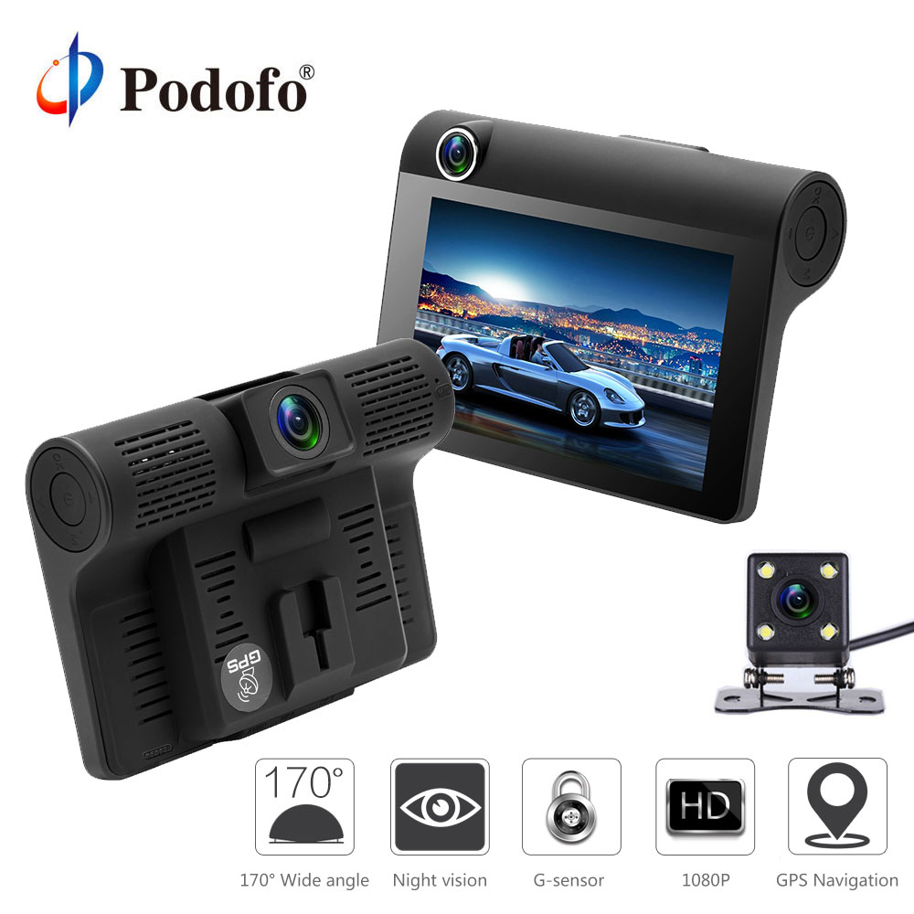 Podofo 4 Car DVR font b Camera b font Dual Lens with Rear view font b