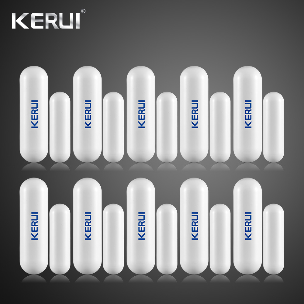 KERUI 10pcs Wireless Door Gap Window Magnetic Sensor Detector Door Open Reminder 433MHz For Home Security
