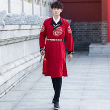 Men women hanfu costume cosplay clothes male Chinese ancient warrior robe Ming dynasty dress TV Film Stage Performance Outfit