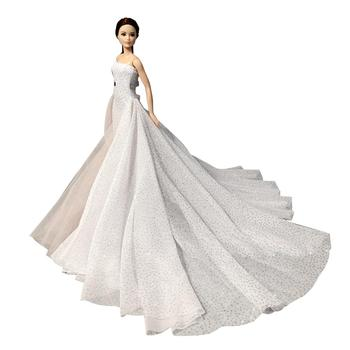 leadingstar 2017 new wedding bridal dress princess gown evening party dress doll clothes outfit for barbie doll for kids gift Fashion Handmade Kids Toys Mini Wedding Dinner Party Clothes Doll Dress Outfit Accessories For Barbie DIY Toys Christmas Present