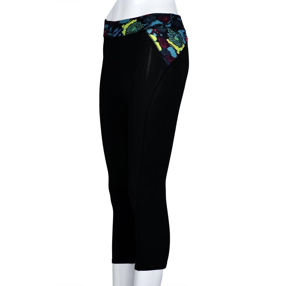 Womail Brand High Quality Yoga leggings Women Elasticity Fitness Yoga Sport Pants Waist Flowers Printed Stretch Pants