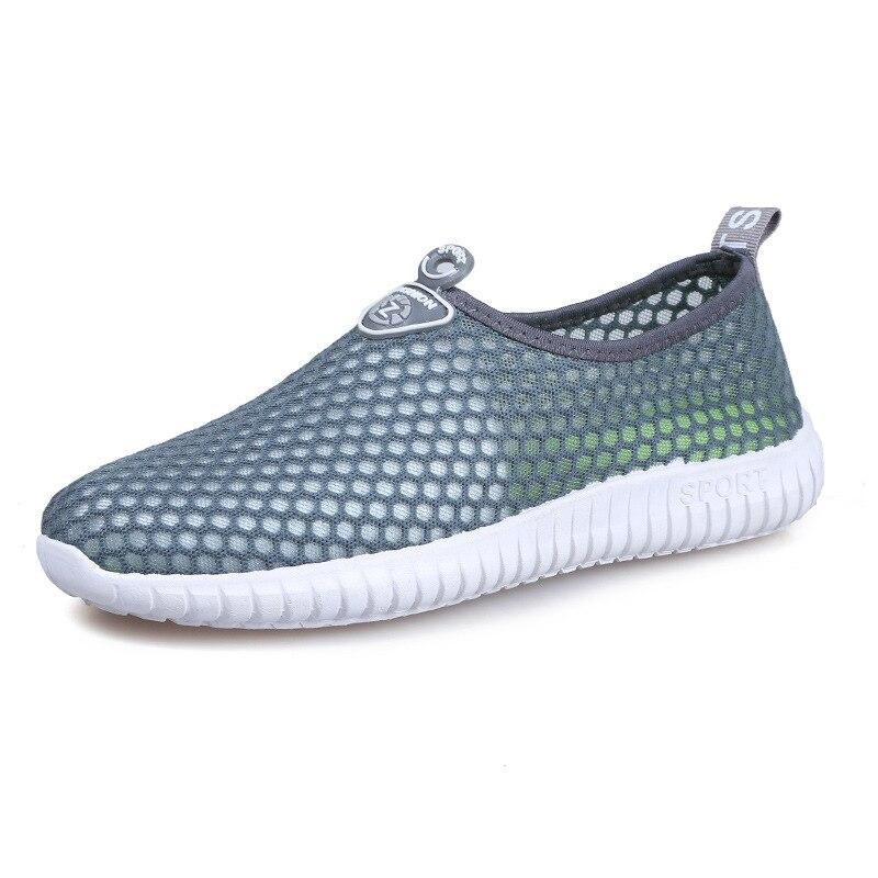 2018 nouveau printemps automne mode hommes chaussures décontractées marque respirant mâle maille baskets semelle épaisse unique net chaussures pour homme