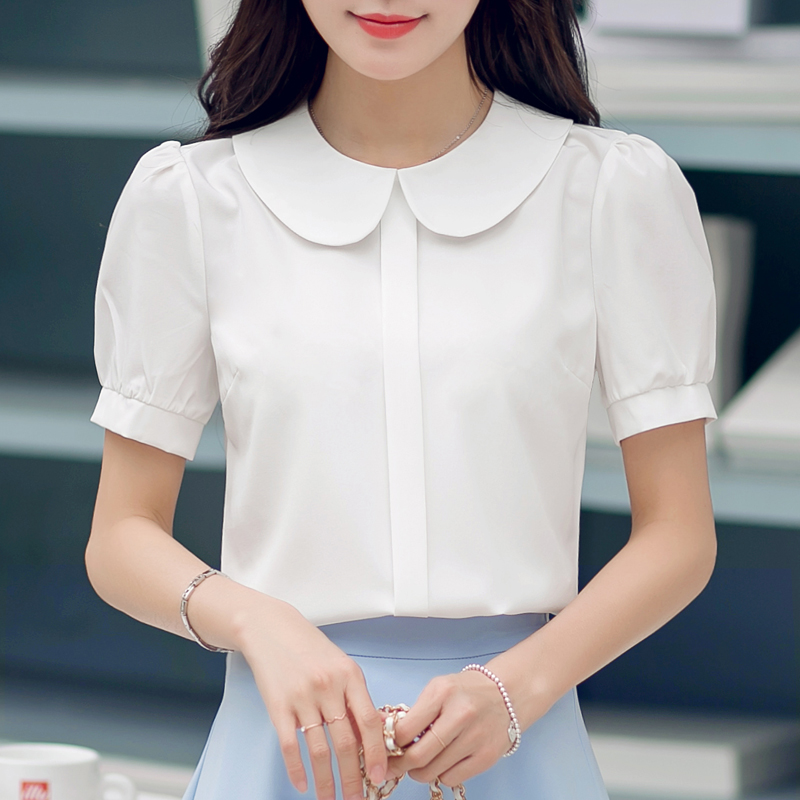 Shop for WHITE M Cute Peter Pan Collar Short Sleeve Bowknot Embellished Women's Blouse online at $ and discover fashion at erawtoir.ga Cheapest and Latest women & men fashion site including categories such as dresses, shoes, bags and jewelry with free shipping all over the world.