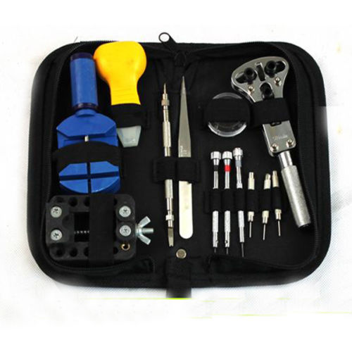 2016 Rushed Time-limited Flue Type Lgp Ce Watch Tools 13pcs Repair Tool Kit Zip Case Opener Remover Screwdrivers W/carry Bag 147 pcs portable professional watch repair tool kit set solid hammer spring bar remover watchmaker tools watch adjustment