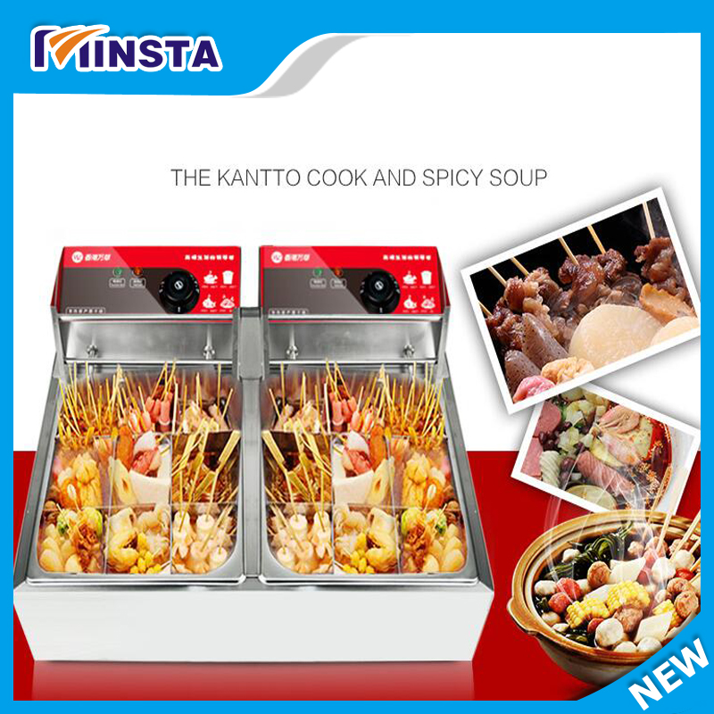 Commercial 2 cylinder 18 frames Electric kanto cooking machine Snack equipment cooking pot oden machine110V/220V