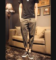 2016 New Brand High Quality Summer Linen Mens Joggers Loose Pants Casual Gym Thin Straight Sports