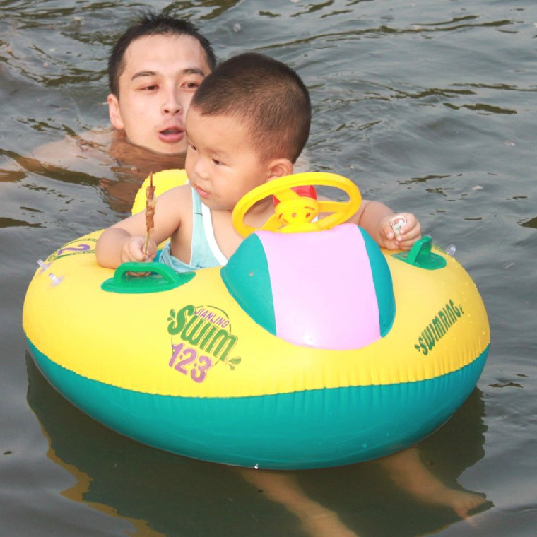inflatable baby swimming boat with trumpet/swimming float seat with sun-shade/Baby Water Garden/water yacht -B9zq