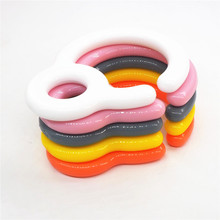 Chenkai 50pcs baby Stroller Car Hook Clip Food Grade PP Baby shower Teether Toy playpen bars Clips part