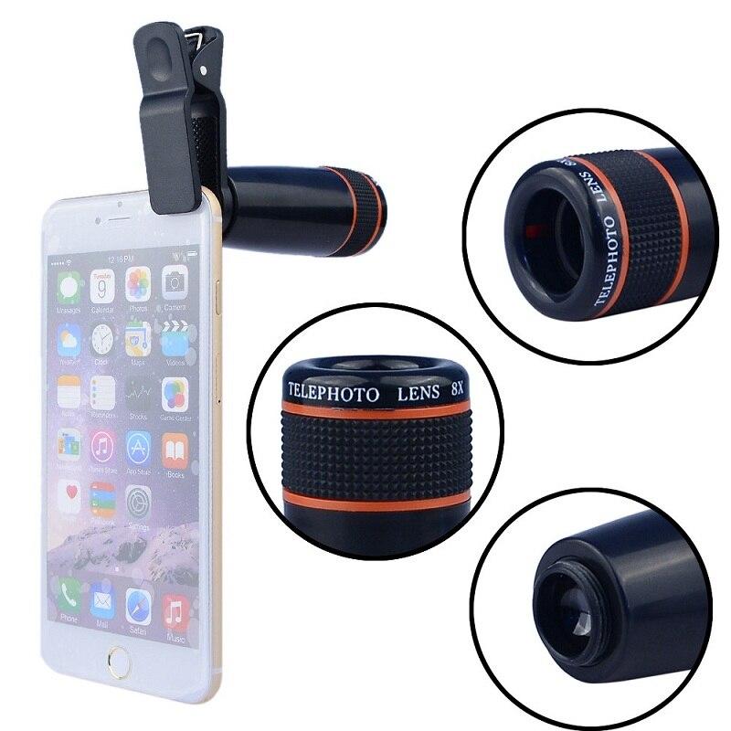 Camera Lens 8X telescope Mobile Phone Optical Camera Optical Zoom Telephoto Lenses for iphone6 7 plus samsung huawei xiaomi LG