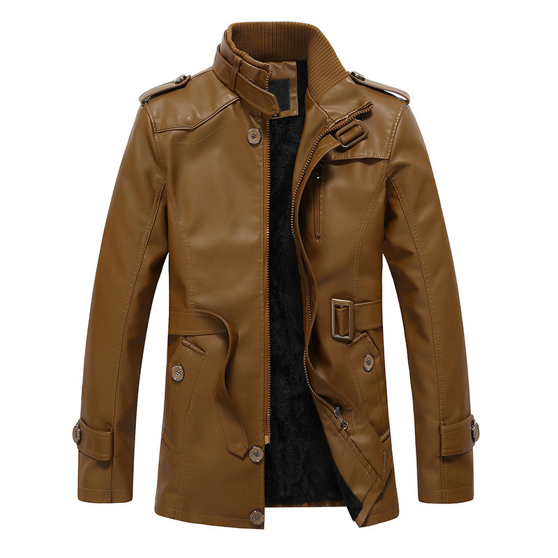 BOLUBAO Winter Leather Suede Jacket Men Fashion Brand Black Thick Liner  Fleece Lined Male Leather PU Jackets Outerwear-in Faux Leather Coats from Men's Clothing    3