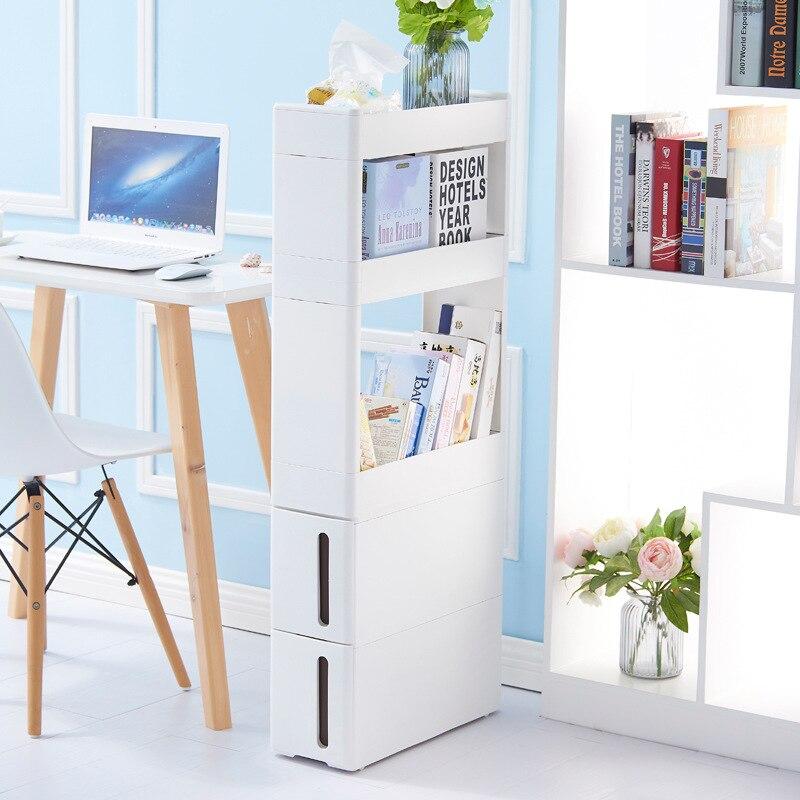 Cozinha casa de banho sala de estar armário de armazenamento de gaveta prateleiras fenda 17 cm de largura branco ZP01161905
