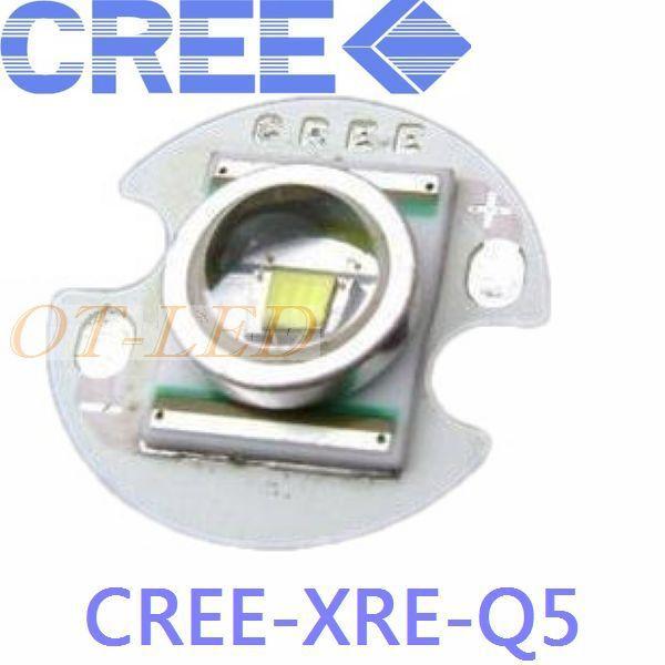 1PCS CREE XRE Q5 LED XLamp cree xr-e Q5 led White 3W LED Light Emitter mounted on 16mm UFO PCB mr16 cree q5 3w 1 led 160lumen